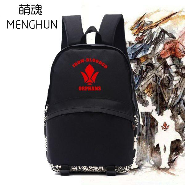 2017 Hot anime Mobile Suit Gundam IRON BLOODED ORPHANS TEKKADAN logo backpack anime fans backpack anime - Anime Backpacks
