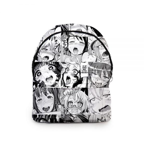 2020 Anime Kawaii Hentai Backpacks Men Women ahegao School Bags Travel Bags 3D Print Teenage Notebook - Anime Backpacks