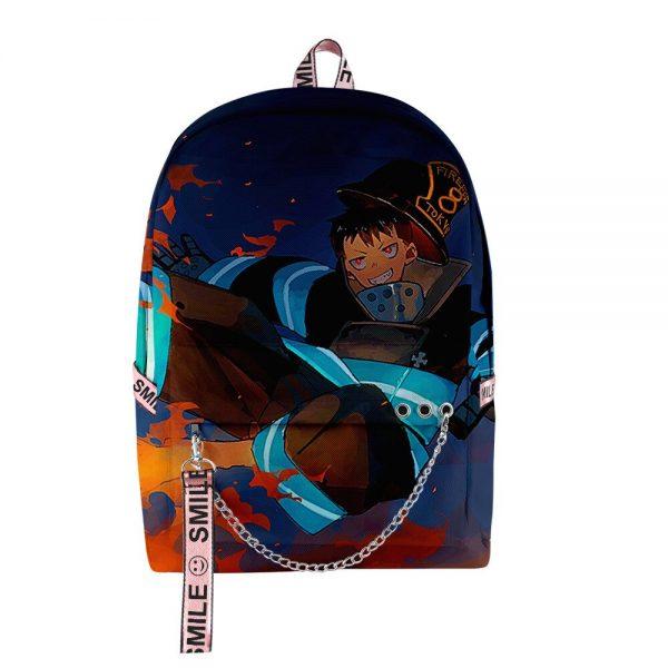 2020 New Casual Fire Force backpack Schoolbag Men Women Shoulder Travel Bag Print Hip Hop Teenage 1 - Anime Backpacks