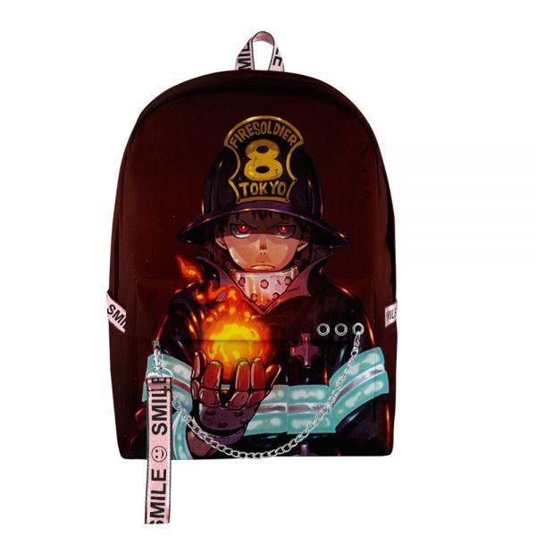 2020 New Casual Fire Force backpack Schoolbag Men Women Shoulder Travel Bag Print Hip Hop Teenage - Anime Backpacks