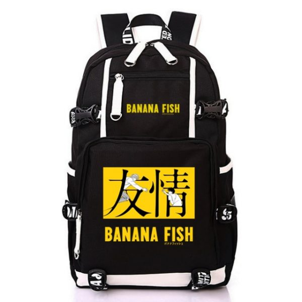 Anime BANANA FISH Canvas Back Pack Cosplay School Bags Anime Laptop Backpack Unisex Travel Backpack Women 2.jpg 640x640 2 - Anime Backpacks
