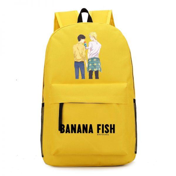 Anime BANANA FISH Canvas Back Pack Cosplay School Bags Anime Laptop Backpack Unisex Travel Backpack Women 5 - Anime Backpacks