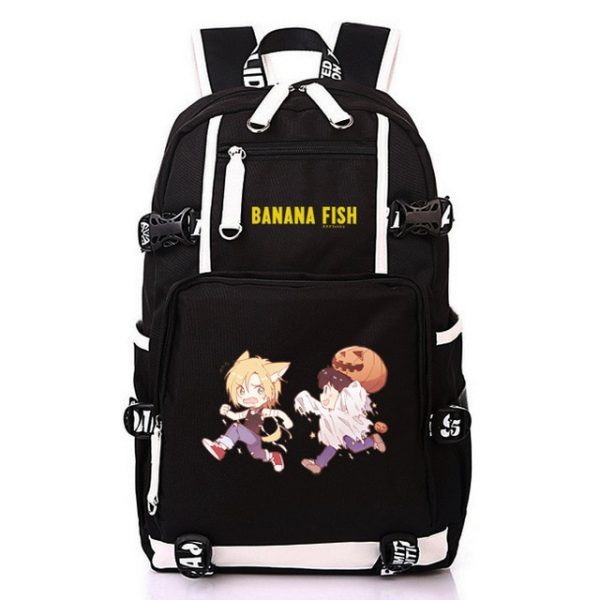 Anime BANANA FISH Canvas Back Pack Cosplay School Bags Anime Laptop Backpack Unisex Travel Backpack Women 9.jpg 640x640 9 - Anime Backpacks