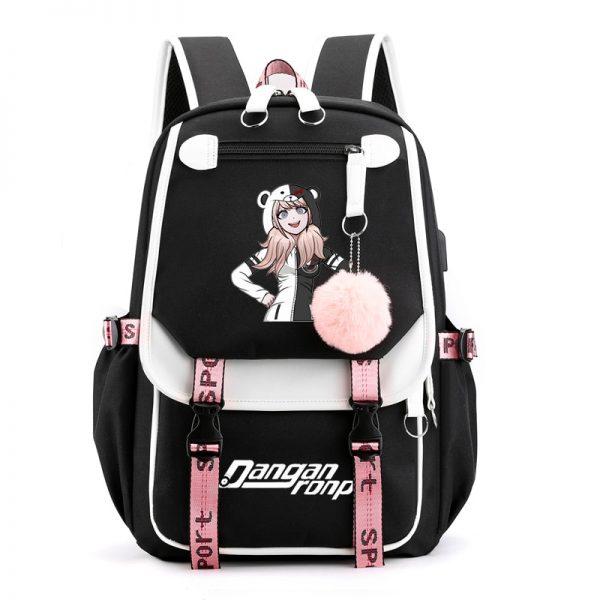 Anime Danganronpa Dangan Ronpa Monokuma Nylon Backpack Large Capacity Student School Bag Mochila Feminina Travel Backpack - Anime Backpacks