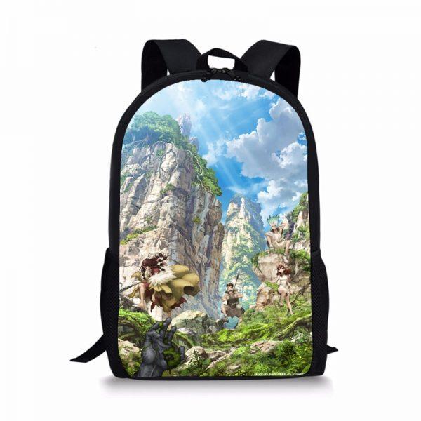 Anime Dr Stone Ishigami Senku Backpack For Teenage Kids Boys School Book Bag Travel Bag Cartoon - Anime Backpacks