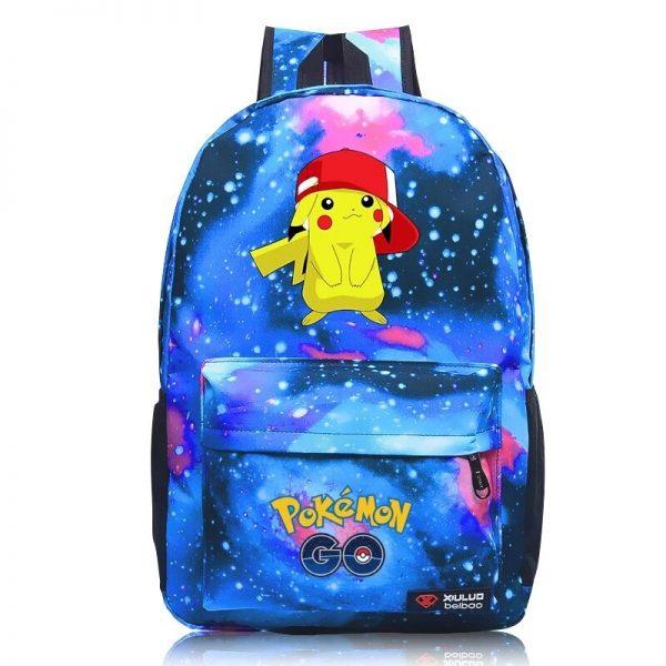Anime Pokemon Go Game Backpack School Canvas Pikachu Teenagers Schoolbag Anime Rucksack Men Women School Bag 1 - Anime Backpacks