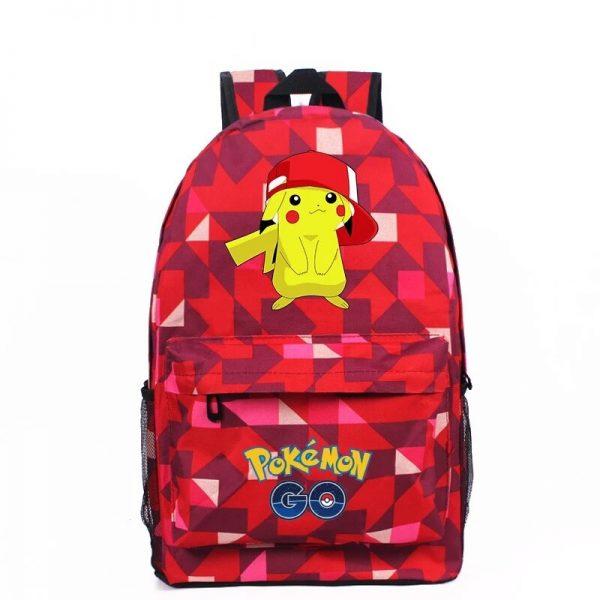 Anime Pokemon Go Game Backpack School Canvas Pikachu Teenagers Schoolbag Anime Rucksack Men Women School Bag 2 - Anime Backpacks