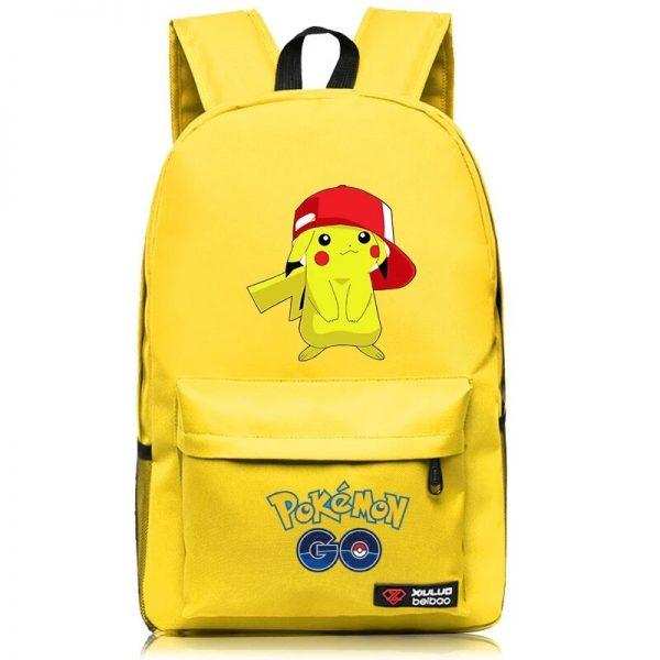 Anime Pokemon Go Game Backpack School Canvas Pikachu Teenagers Schoolbag Anime Rucksack Men Women School Bag 3 - Anime Backpacks