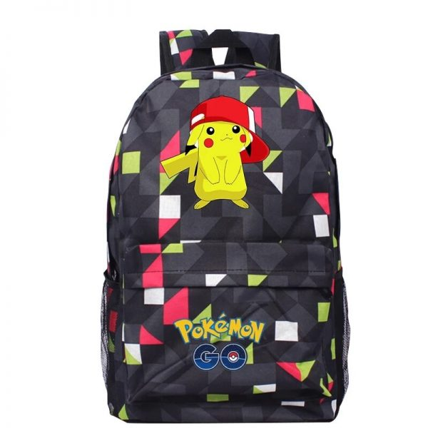 Anime Pokemon Go Game Backpack School Canvas Pikachu Teenagers Schoolbag Anime Rucksack Men Women School Bag 4 - Anime Backpacks