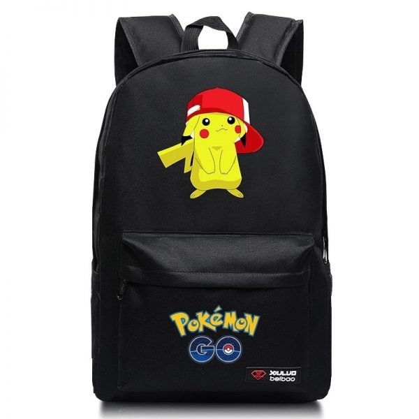 Anime Pokemon Go Game Backpack School Canvas Pikachu Teenagers Schoolbag Anime Rucksack Men Women School Bag 5 - Anime Backpacks