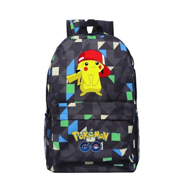 Anime Pokemon Go Game Backpack School Canvas Pikachu Teenagers Schoolbag Anime Rucksack Men Women School Bag - Anime Backpacks