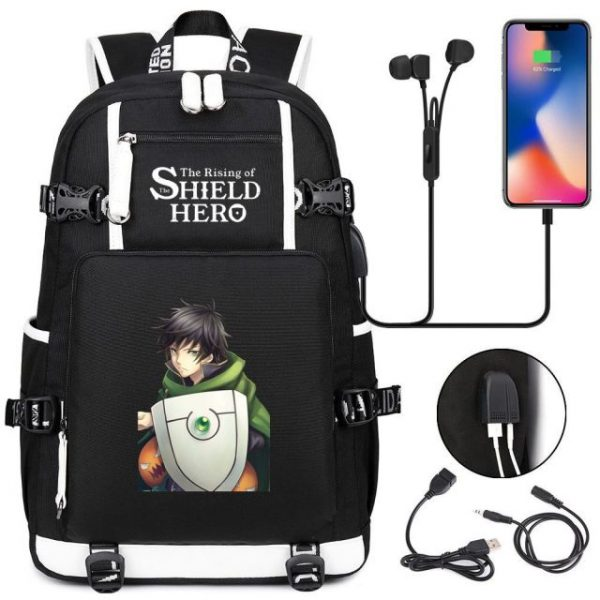 Anime The Rising Of The Shield Hero Backpack Laptop Travel Bag Bookbags for Students Adult Shoulder 4.jpg 640x640 4 - Anime Backpacks
