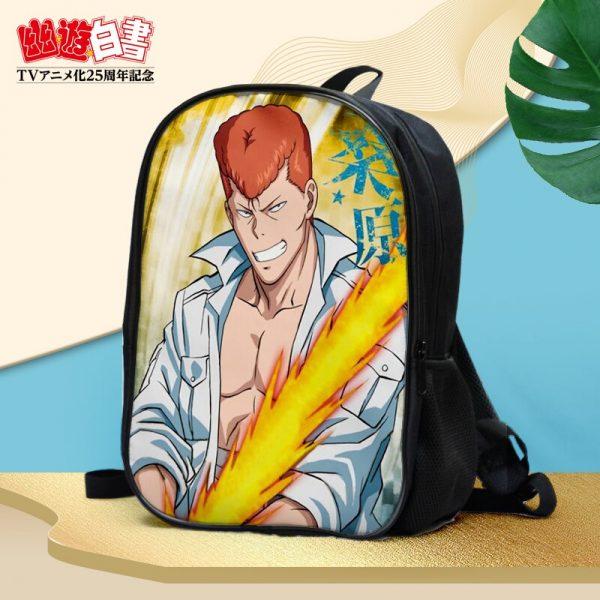 Anime YuYu Hakusho Urameshi Yusuke Kuwabara Kazuma Hiei Youko Kurama Double waterproof backpack Shoulder bag Schoolbag 1 - Anime Backpacks
