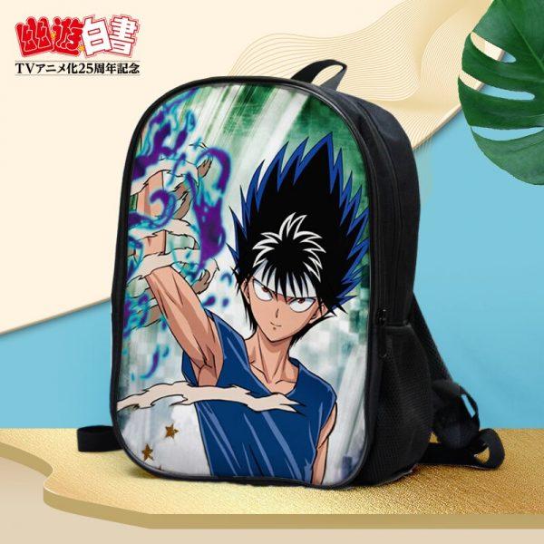 Anime YuYu Hakusho Urameshi Yusuke Kuwabara Kazuma Hiei Youko Kurama Double waterproof backpack Shoulder bag Schoolbag 2 - Anime Backpacks