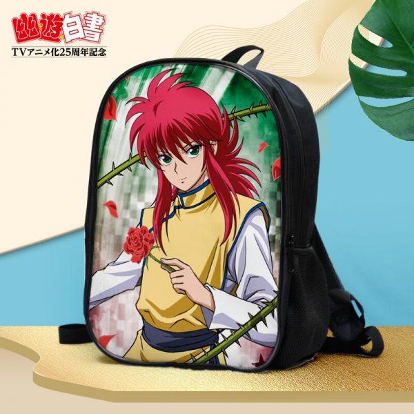 Anime YuYu Hakusho Urameshi Yusuke Kuwabara Kazuma Hiei Youko Kurama Double waterproof backpack Shoulder bag Schoolbag 3 - Anime Backpacks