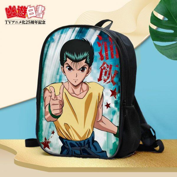 Anime YuYu Hakusho Urameshi Yusuke Kuwabara Kazuma Hiei Youko Kurama Double waterproof backpack Shoulder bag Schoolbag - Anime Backpacks