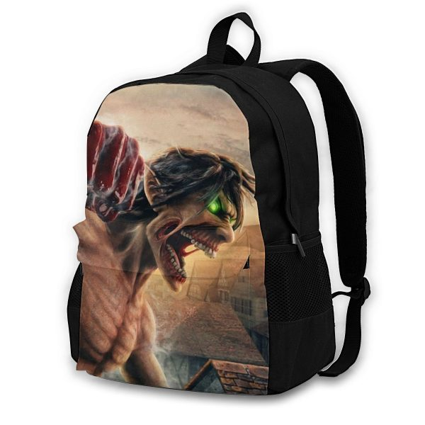 Attack On Titan Backpacks Polyester Workout Male Backpack Lightweight Aesthetic Bags - Anime Backpacks