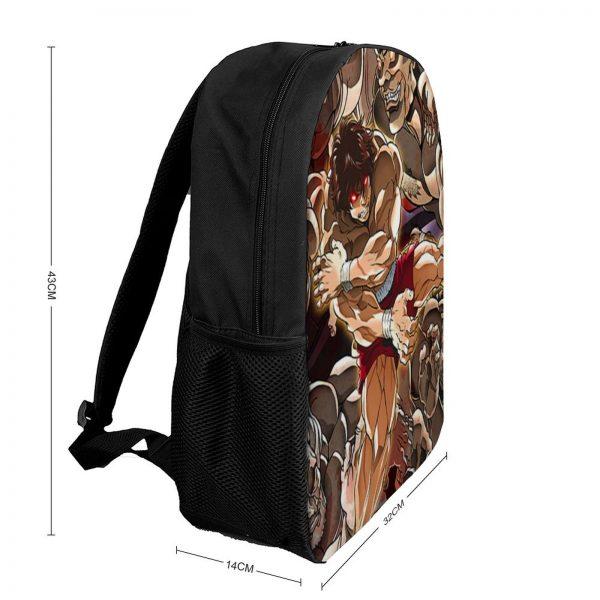 Baki Backpacks Tourist Soft Fun Backpack Polyester School Bags 1 - Anime Backpacks