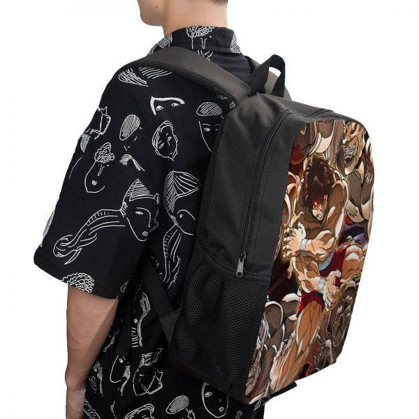 Baki Backpacks Tourist Soft Fun Backpack Polyester School Bags 3 - Anime Backpacks