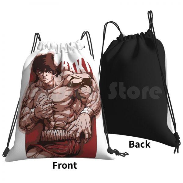 Baki Hanma Backpack Drawstring Bag Riding Climbing Gym Bag Baki Boxing Thai Netflix Anime Manga Baki 1 - Anime Backpacks