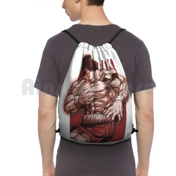 Baki Hanma Backpack Drawstring Bag Riding Climbing Gym Bag Baki Boxing Thai Netflix Anime Manga Baki - Anime Backpacks