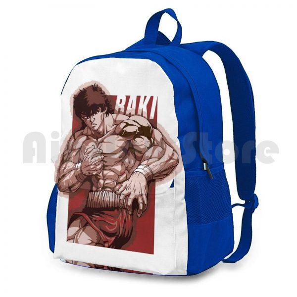 Baki Hanma Outdoor Hiking Backpack Riding Climbing Sports Bag Baki Boxing Thai Netflix Anime Manga Baki 1 - Anime Backpacks