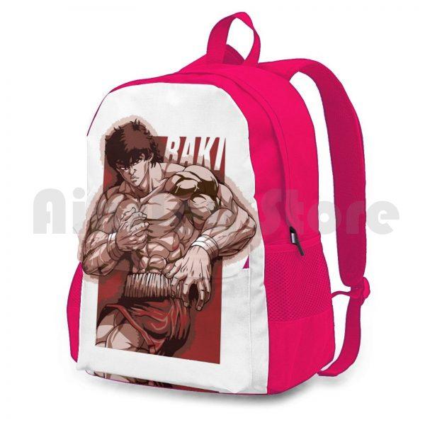 Baki Hanma Outdoor Hiking Backpack Riding Climbing Sports Bag Baki Boxing Thai Netflix Anime Manga Baki 2 - Anime Backpacks