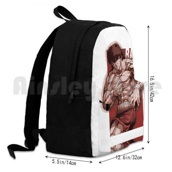 Baki Hanma Outdoor Hiking Backpack Riding Climbing Sports Bag Baki Boxing Thai Netflix Anime Manga Baki 3 - Anime Backpacks