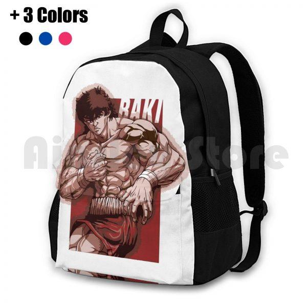 Baki Hanma Outdoor Hiking Backpack Riding Climbing Sports Bag Baki Boxing Thai Netflix Anime Manga Baki - Anime Backpacks