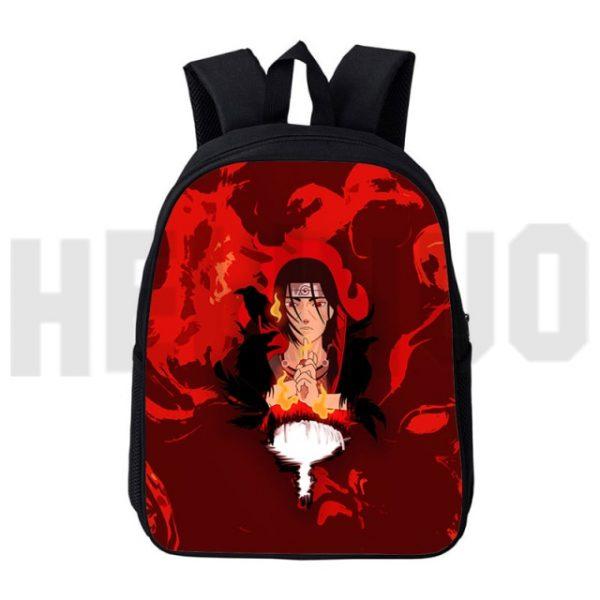 Casual Canvas Japan Anime 12 16inch Akatsuki Itachi Backbags Akatsuki Backpack Men 3D Print Schoolbag Zipper 2.jpg 640x640 2 - Anime Backpacks