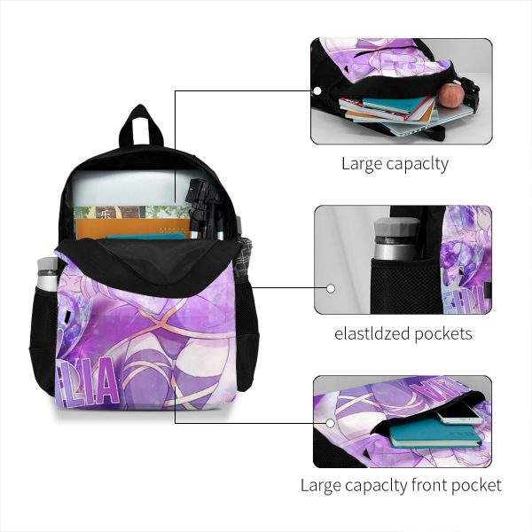 Fairy Tail Backpacks Pattern Fun Polyester Backpack Summer Youth Bags 3 - Anime Backpacks