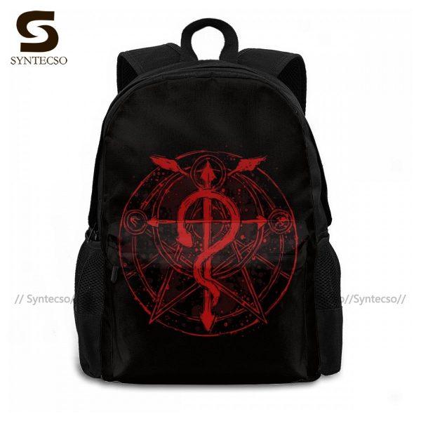 Fullmetal Alchemist Brotherhood Backpacks Funny Polyester Cycling Backpack Runner Soft Bags 1 - Anime Backpacks