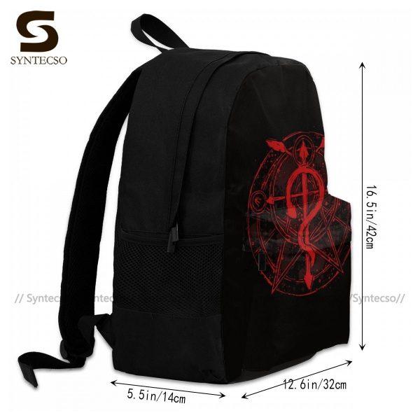 Fullmetal Alchemist Brotherhood Backpacks Funny Polyester Cycling Backpack Runner Soft Bags 2 - Anime Backpacks
