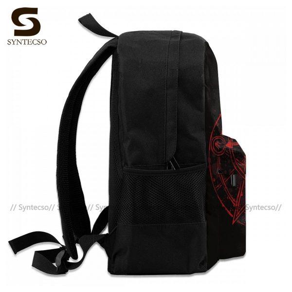 Fullmetal Alchemist Brotherhood Backpacks Funny Polyester Cycling Backpack Runner Soft Bags 4 - Anime Backpacks