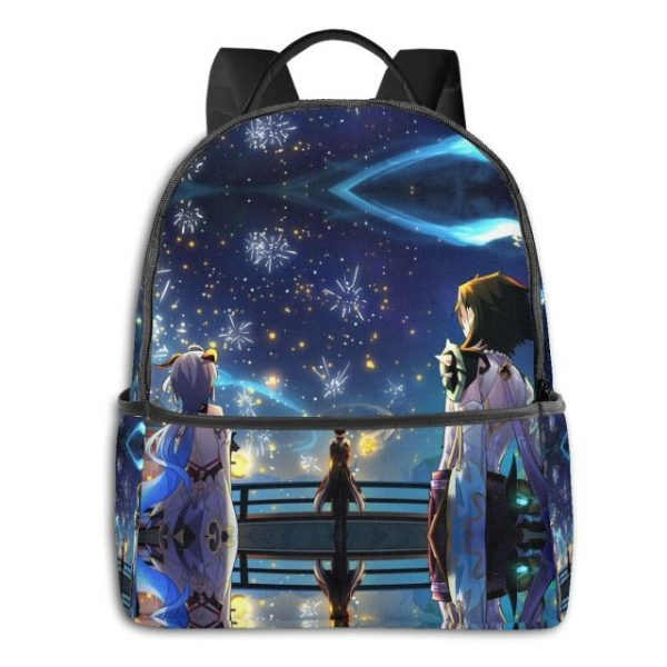 Genshin Anime Cartoon Backpack with USB Charging Port and Anti theft Lock Pencil Case Unisex Fashion 3.jpg 640x640 3 - Anime Backpacks