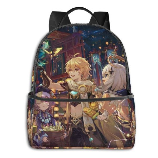 Genshin Anime Cartoon Backpack with USB Charging Port and Anti theft Lock Pencil Case Unisex Fashion 7.jpg 640x640 7 - Anime Backpacks