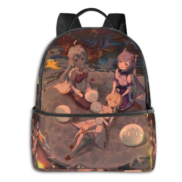 Genshin Anime Cartoon Backpack with USB Charging Port and Anti theft Lock Pencil Case Unisex Fashion 8.jpg 640x640 8 - Anime Backpacks