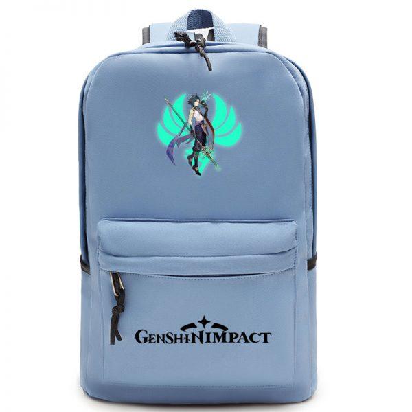 Genshin Impact Backpack Women School Shoulder Bag Satchel Teenager Laptop Backpack Men Anime Manga School Bags 4 - Anime Backpacks