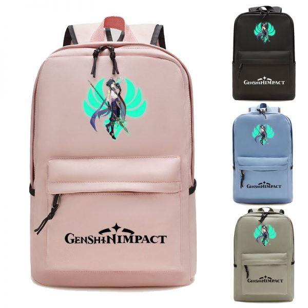 Genshin Impact Backpack Women School Shoulder Bag Satchel Teenager Laptop Backpack Men Anime Manga School Bags - Anime Backpacks