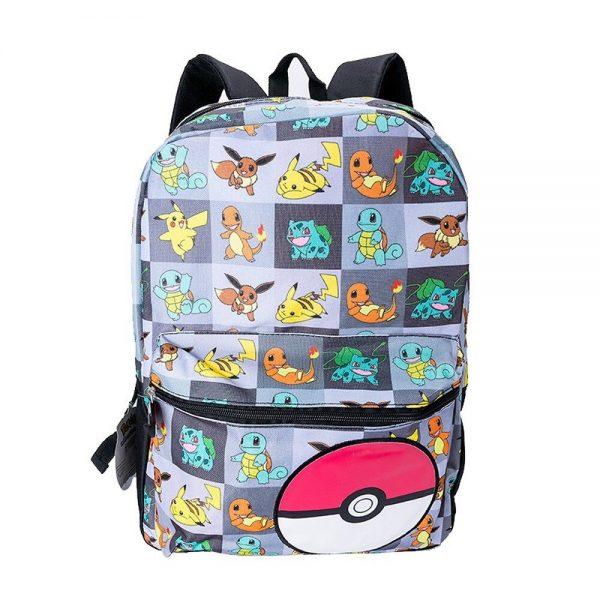 Genuine Takara Tomy Pokemon Pikachu Anime Cartoon Print Backpack Kids Schoolbag Outdoor Casual Backpack Christmas Gifts 1 - Anime Backpacks