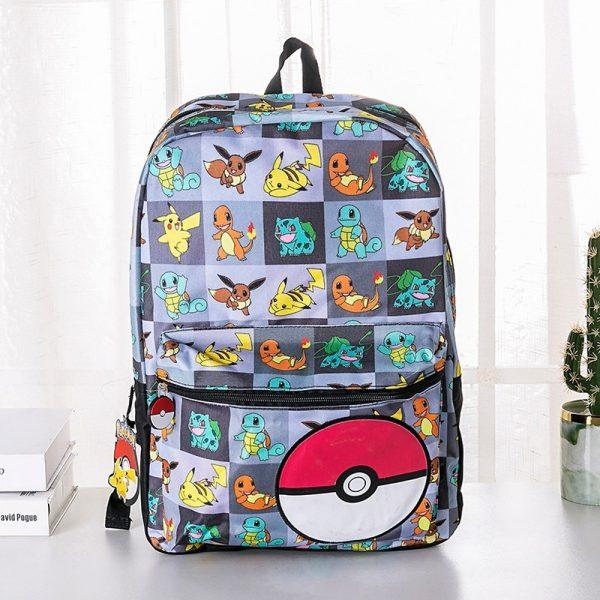 Genuine Takara Tomy Pokemon Pikachu Anime Cartoon Print Backpack Kids Schoolbag Outdoor Casual Backpack Christmas Gifts - Anime Backpacks