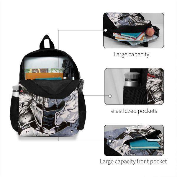 Goblin Slayer Backpacks Travel Youth Pattern Backpack Pretty Polyester Bags 3 - Anime Backpacks