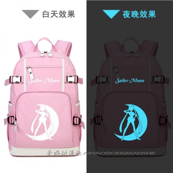 Harajuku Sailor Moon Luminous Cosplay Backpacks Women Anime Laptop Schoolbag Kawaii cute Rucksack Mochila Feminina A71205 1 - Anime Backpacks