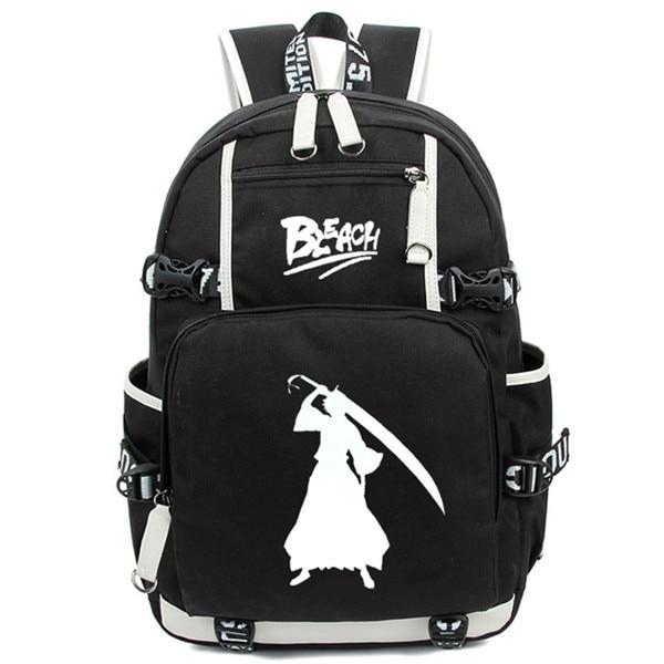 Hot Janpan Anime Ichigo Kurosaki Luminous Backpack Fashion Cartoon Bleach Rucksack Children Students School Bags Mochila 2.jpg 640x640 2 - Anime Backpacks