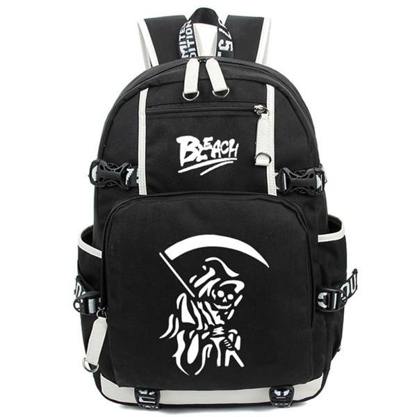 Hot Janpan Anime Ichigo Kurosaki Luminous Backpack Fashion Cartoon Bleach Rucksack Children Students School Bags - Anime Backpacks