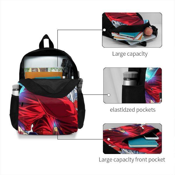 Inuyasha Backpacks Workout Male Soft Backpack Beautiful Polyester Bags 3 - Anime Backpacks