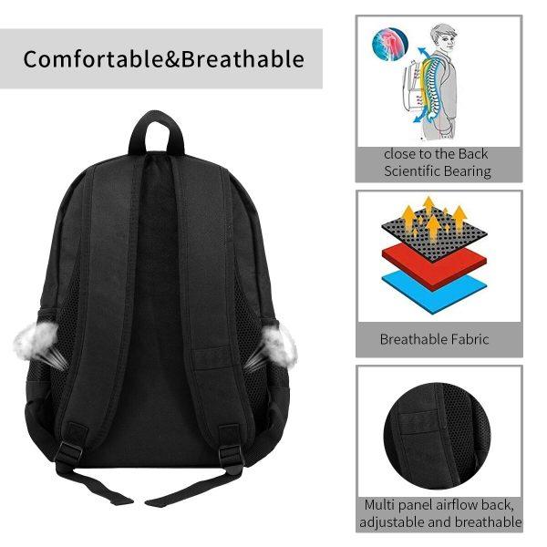 Inuyasha Backpacks Workout Male Soft Backpack Beautiful Polyester Bags 5 - Anime Backpacks