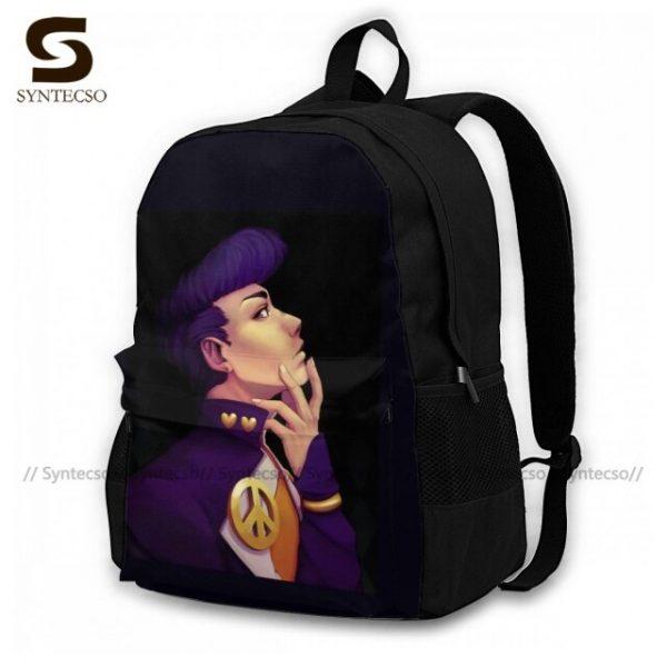 Jojo Bizarre Adventure Backpacks Elegant Polyester Commuter Backpack Female Durable Bags 12.jpg 640x640 12 - Anime Backpacks