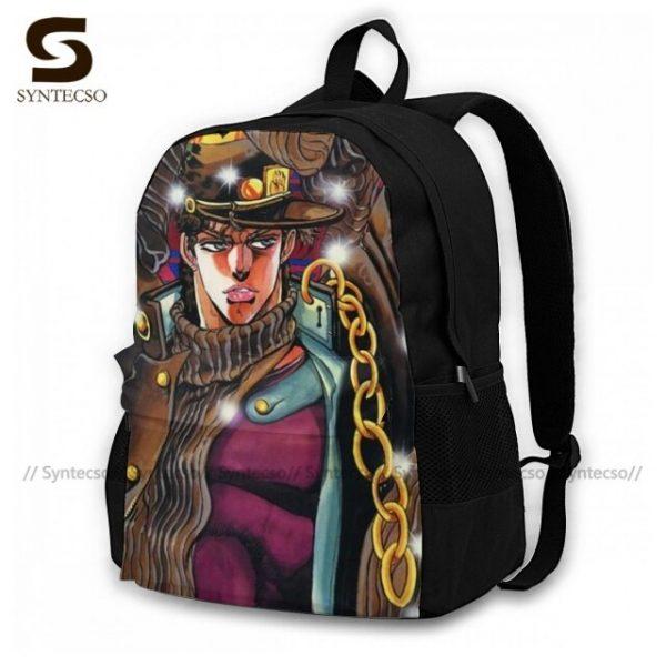Jojo Bizarre Adventure Backpacks Elegant Polyester Commuter Backpack Female Durable Bags 18.jpg 640x640 18 - Anime Backpacks