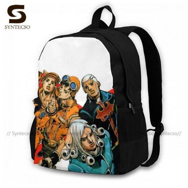 Jojo Bizarre Adventure Backpacks Elegant Polyester Commuter Backpack Female Durable Bags 19.jpg 640x640 19 - Anime Backpacks